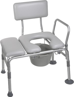 Drive Padded Tub Transfer Bench with Commode