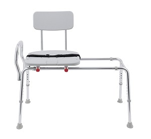 Eagle Sliding Transfer Bench with Replaceable Cut-Out Seat