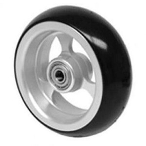 Frog Leg Aluminum 3-Spoke Black Soft-Roll Casters