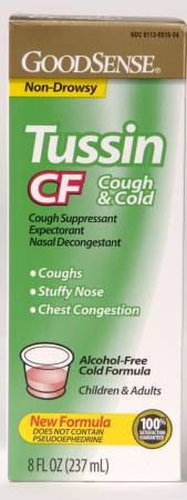 Good Sense Tussin Cold and Cough Relief