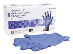 McKesson Confiderm 3.5C Powder Free Nitrile Exam Gloves