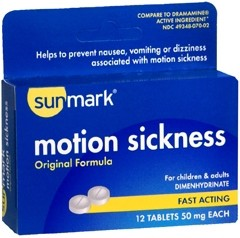 Motion Sickness Tablets - Pack of 12