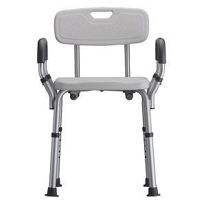 Nova Shower Chair with Back and Removable Padded Arms