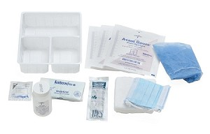 Medline VAD Dressing Change Kit - Case of 20