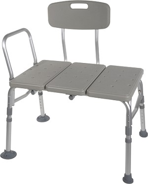McKesson Aluminum Transfer Bench with Reversible Back