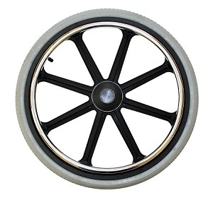 "20"" x 1-3/8"", 8-Spoke Mag Wheelchair Wheel w/ 1/2"" Axle"