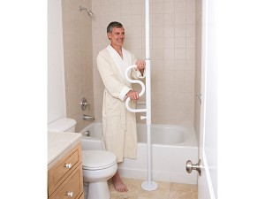 Standers Security Pole and Curved Grab Bar