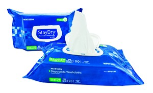Mckesson StayDry Disposable Washcloths with Aloe