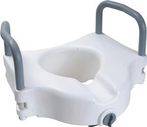 "Cardinal 5"" Raised Toilet Seat with Arms and Lock"