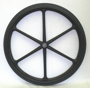 "24 x 1"" 8-Spoke Mag Wheelchair Wheel"