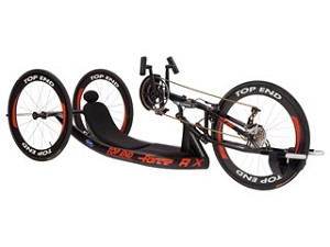 Top End Force RX Handcycle with Adjustable Carbon Fiber Back