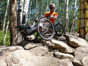 NUKE Off Road Recumbent handcycle