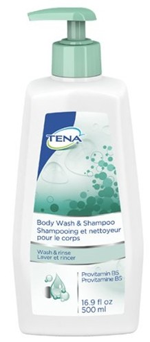 Tena Body Wash & Shampoo 16.9 oz Bottle