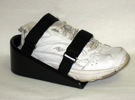 Footplate Shoe Holder w/ Velcro Fasteners