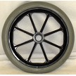 "8"" x 1"", 8 Spoke Caster with Hard Rubber Tire"