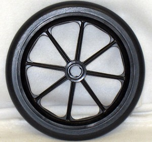 "8"" x 1"", 8 Spoke Caster with Urethane Round Tire"