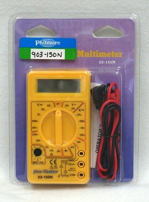 AC/DC Digital Multimeter w/ LCD Display