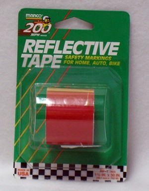 "Red Reflective Tape, 1.5"" x 30'"